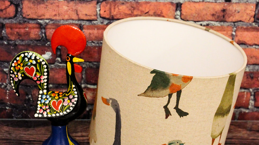 Ducks In A Row Lampshade 25cm Drum