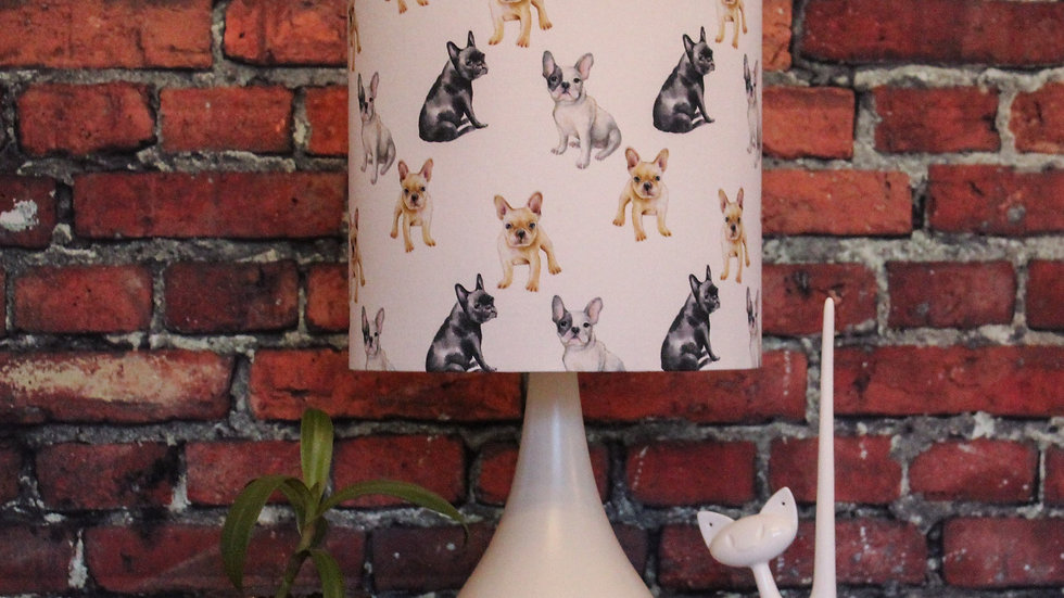 Frenchie Delight White Dimmable Lamp