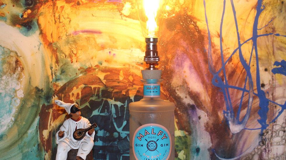 Malfy Gin Rosa - Handmade Bottle Lamp