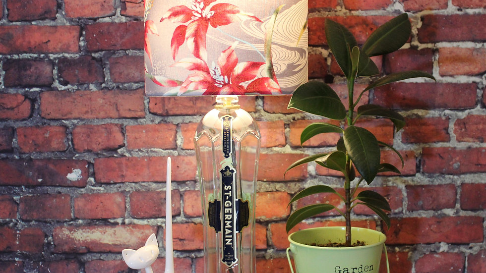 St Germain Liqueur - Handmade Bottle Lamp