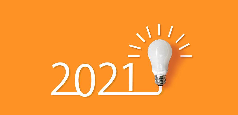 happy new year 2021. year 2021 with llig