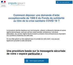 Comment déposer une demande d'aide exceptionnelle de 1500€ du fonds de solidarité - Covid19