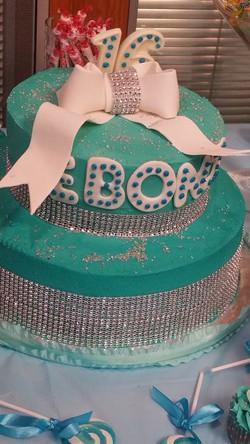Tiffany sweet 16 cake
