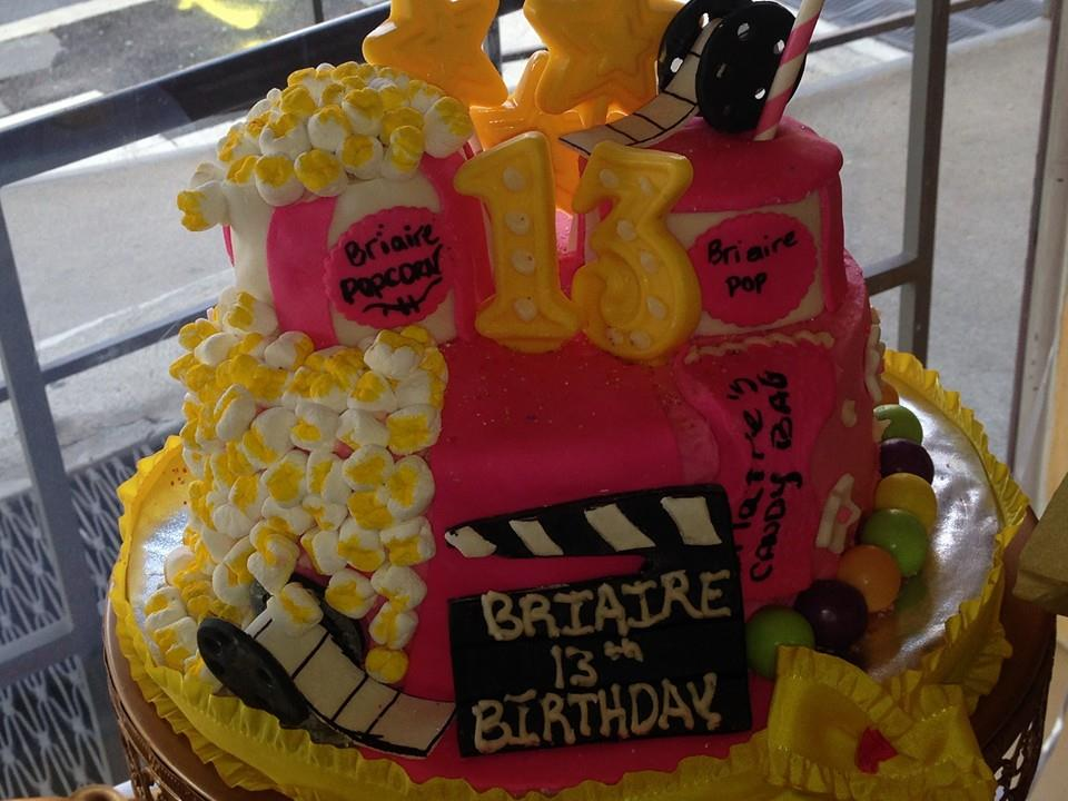 pink movie theme cake
