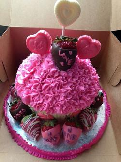jumbo cupcake cake