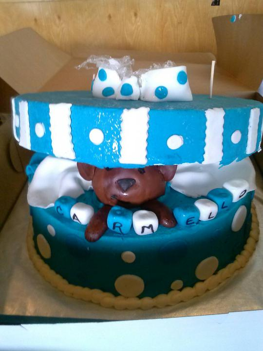 box baby shower cake
