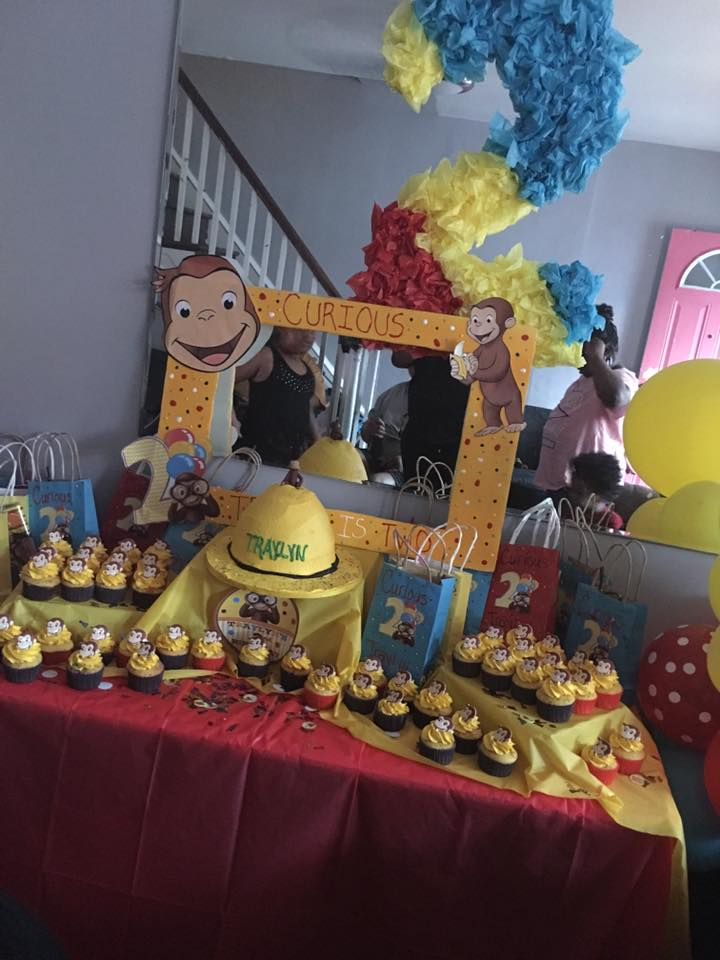 curious george set up