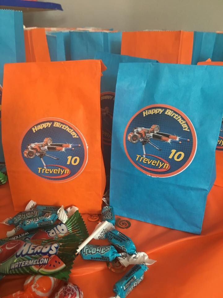 mini nerf party bags