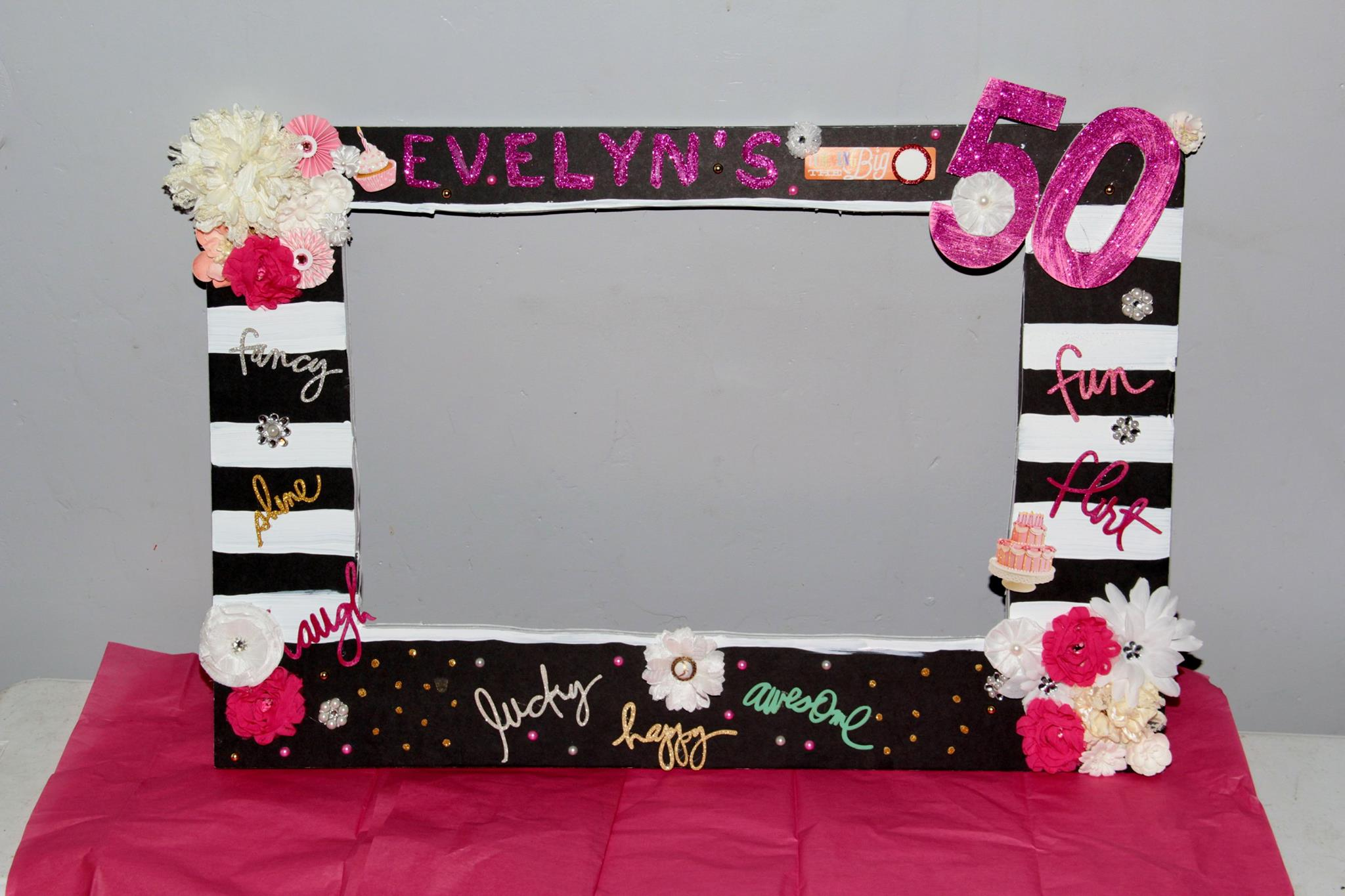 custom party photo frame