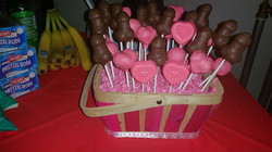 penis and hearts cake pops