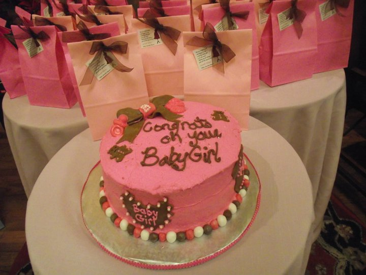 baby_shower_pink_and_brown cake