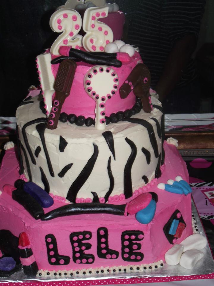 beauty birthday cake