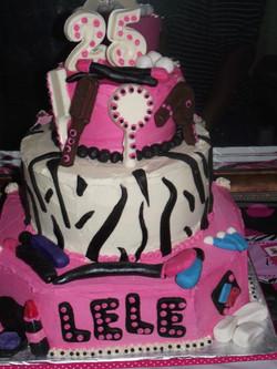 beauty birthday cake