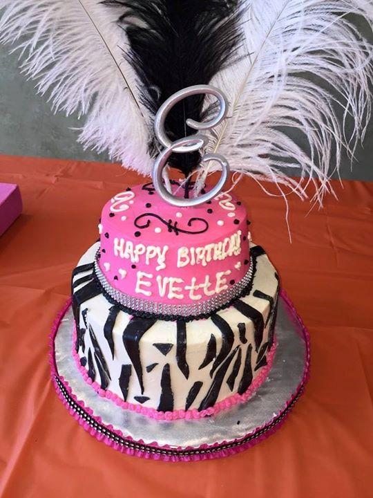 Zebra Diva cake