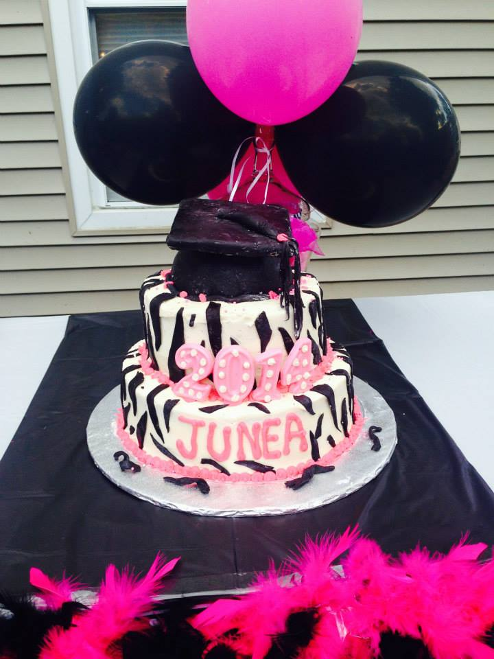 zebra graduation 2014 cake
