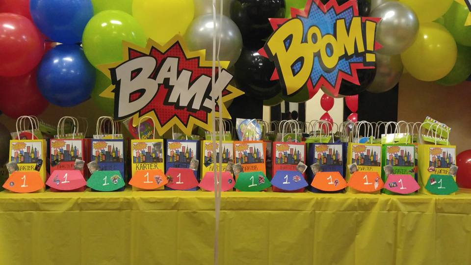 superhero party bags