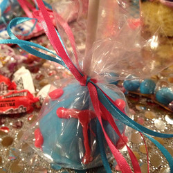pink and blue cake pop