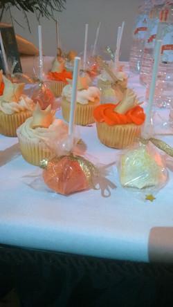 orange and craem cake pops