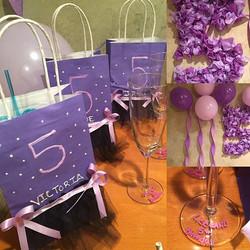 tutu 5th birthday bags