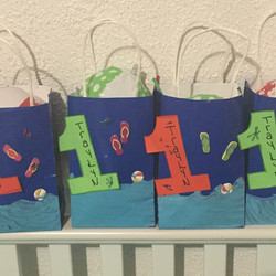 1st birthday pool party bags