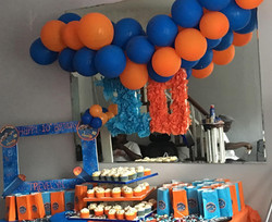 nerf party set up