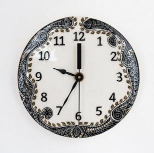 Ceramic Clock by Anne