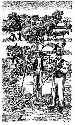 'Making Hay' print