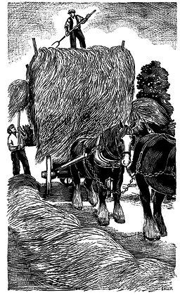 'Hay Cart' print