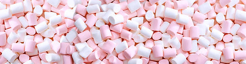 marschmallows blancs et roes