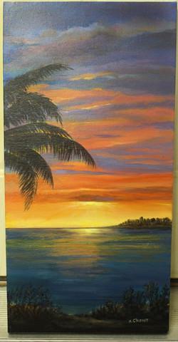 Nancy Chenet - Palm at Sunset