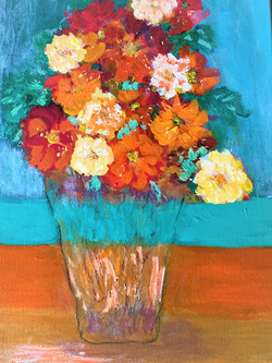 Barbara Hart - Vase of Fall Flowers