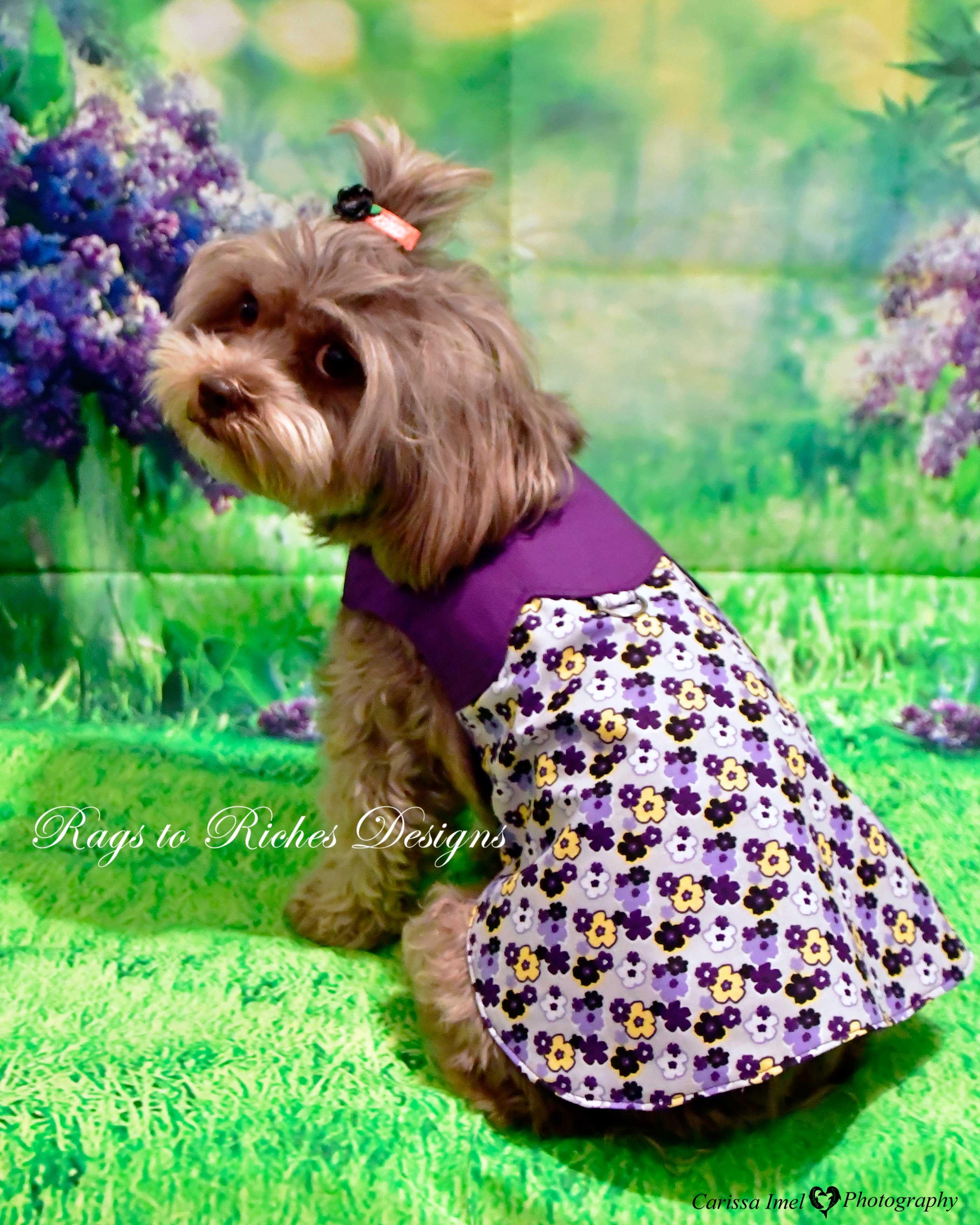 Purple flower mod 60s Style