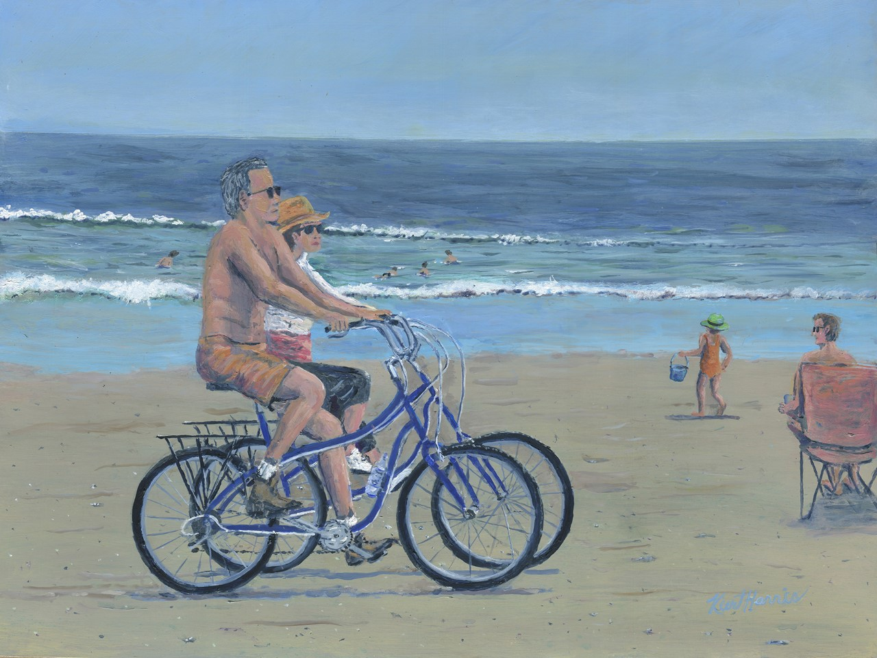 Kurt Harris - Riding on the Beach