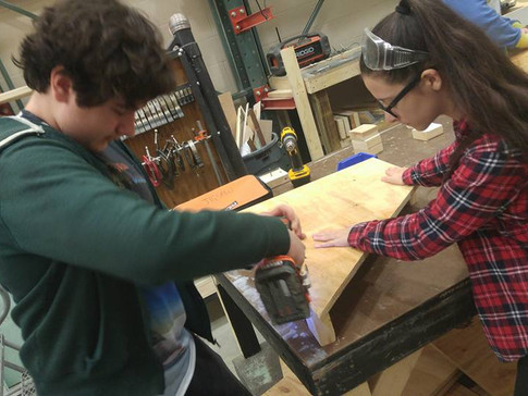 Working in the Scene Shop