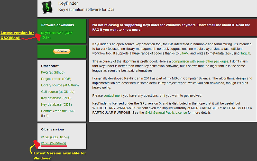 KeyFinder Homepage