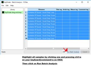 Run Batch Analysis