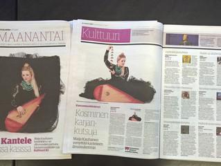 Big 'Raivopyörä' review in the Finnish magazine Karjalainen - 4/5 stars!