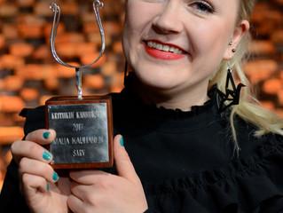 Kritiikin Kannukset -palkinto muusikko Maija Kauhaselle! Critics' Spurs award to Maija Kauhanen!
