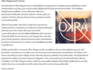 Okra Playground CD reviews!