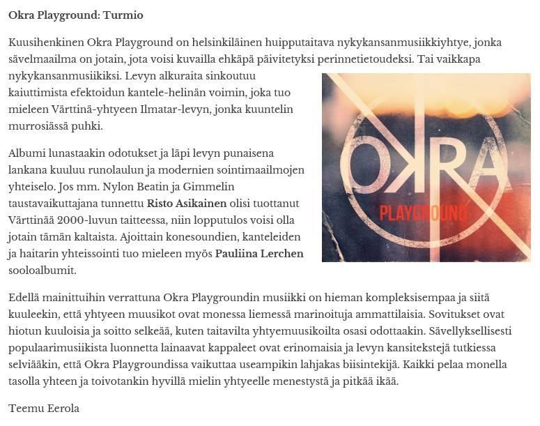 Okra Playground reviews