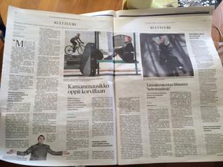 Maija in Helsingin Sanomat 25.4. / Maija Helsingin Sanomissa 25.4.