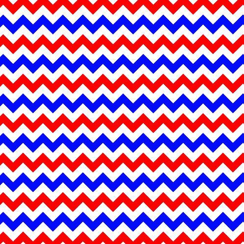 Red White & Blue Flag Chevron Vinyl