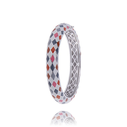 Bracelet Jonc argent arlequin Atella Ref. JO16001