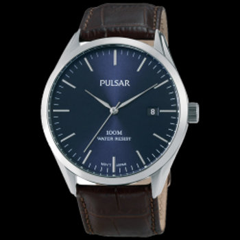 Pulsar Montre homme Tradition cuir marron