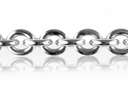 Bracelet Argent GROS FIL ROND+1/ ANNEAU PM