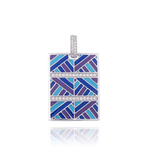 Pendentif bleu en argent Melbourne Ref. BQ121202