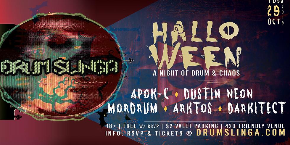Drumslinga Halloween w/ Apok-C, Neon, Mordrum, Arktos