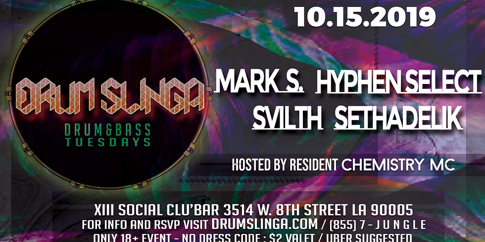 Drumslinga feat. Hyphen Select, Mark S., Sethadelik and More!
