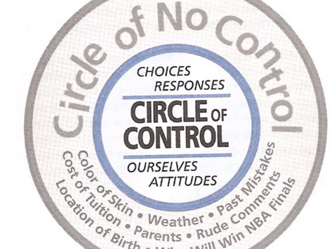 Focusing on what you can Control