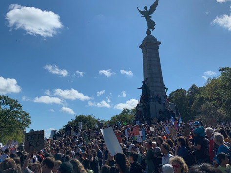 Greta Thunberg in real life - at Montreal Climate March 2019